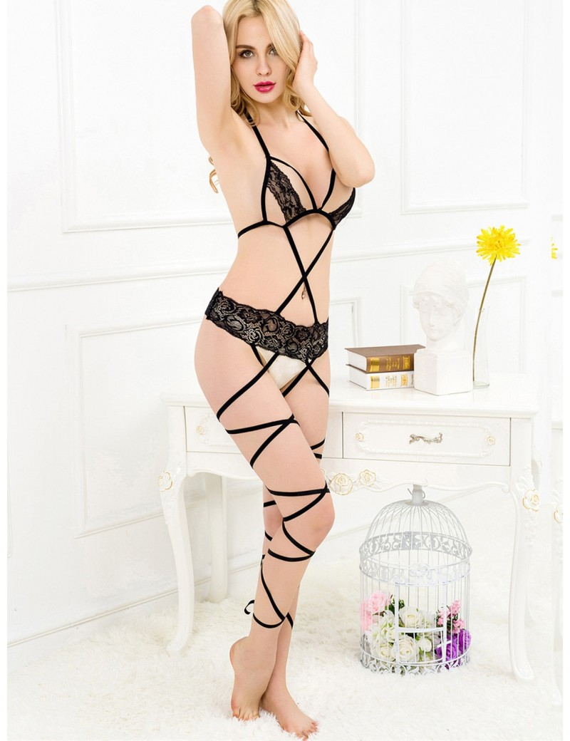 Lace Strap Black Body